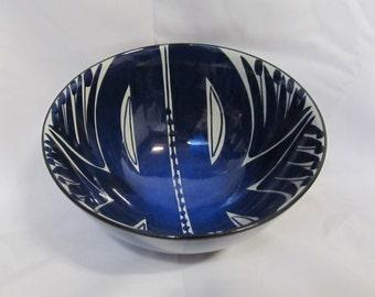 Vintage  Royal Copenhagen Fajance Blue Bowl, Denmark