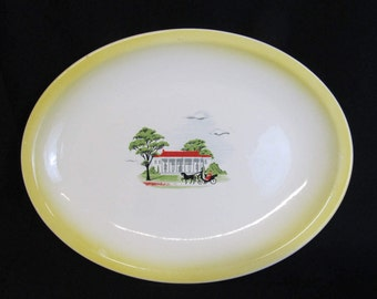 Vintage Platter, The Paden City Pottery Company, Made in The U. S.A.