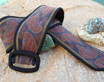 Vintage/ 70s/80s/Stevie Inspired/Boho Tapestry Paisley Cinched Belt