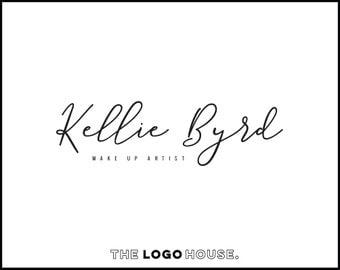 Simple Logo Design, Modern Premade Logo, Elegant Script Logo, Simple Signature Logo, Masculine Logo, Makeup Artist Logo, Handwritten Logo