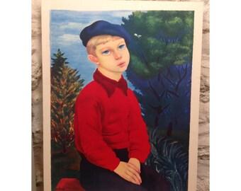 Boy with blue CAP, 67 x 50 cm