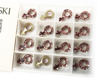 Swarovski 18mm Female Symbol in Antique Pink