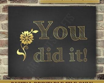Graduation Card - High School Graduation - Funny Graduation Card - Well Done Card - College Graduation - Instant Printable DIGITAL FILE, JPG