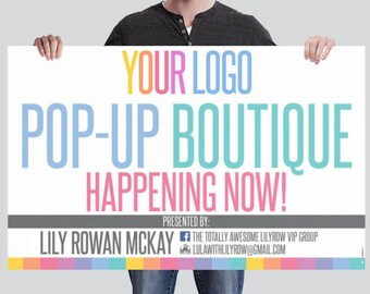 Pop-Up Boutique Personalized Banner! - BN02