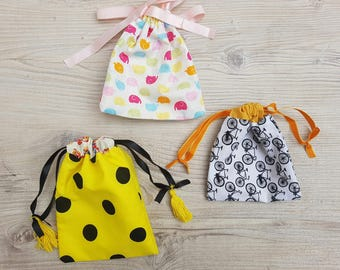 Custom double lined drawstring bags | Cotton drawstring bags | Small bags for storage | Gift bags | Cute storage bags