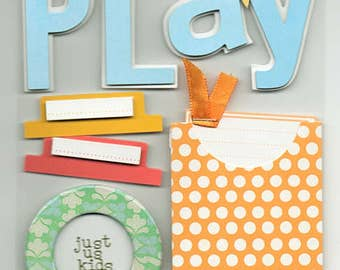 Children Play Time Soft Spoken Scrapbook Stickers Embellishments Cardmaking Crafts Me & My Big Ideas