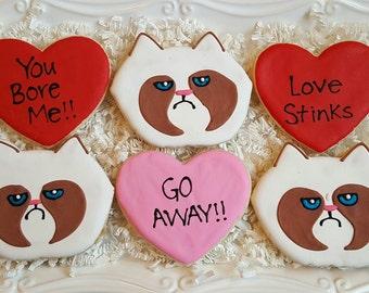 12 Grumpy Cat Cookies
