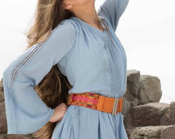 Handmade Woman boho belt inspired in ethnics and folklore by Taarach - Yurankim