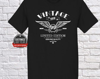 vintage wing 99th birthday, 99th birthday gift for women, 99th birthday gift, 99th birthday Tshirt, 1918, 99th birthday gift for mens, 99th