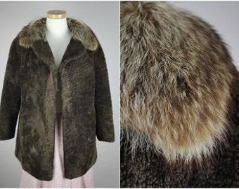 Unique Vintage 60s Sheepskin fur coat