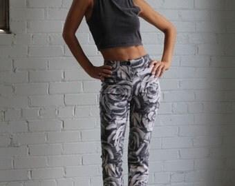 90's Floral Pants
