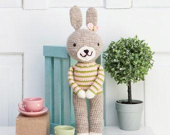 Crochet toys- amigurumi- crochet bunny- gift for girl- gift for boy- baby shower present- christening present