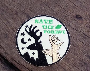 Save The Forest - Iron on Patch