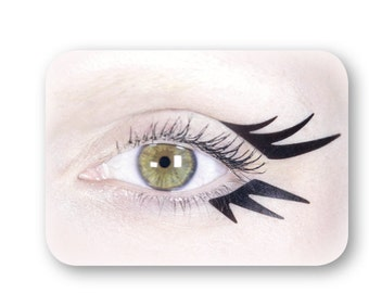 Black self-adhesive eyeliners for a ballerina or artistic makeup look, perfect for a stage performance