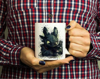 Toothless How To Train Your Dragon Inspired Coffee Mug Tea Cup Color Changing Heat Magic Mug Unique Design Gift Ceramic 11oz, M261