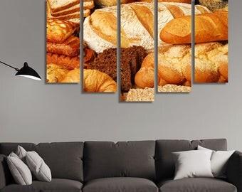 Bread, Croissant, Kitchen Décor, Restaurant Décor, Food Art Print, Food Print, Kitchen Wall Décor, Kitchen Art, Kitchen Wall Art