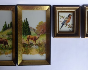 oil painting, set of 4