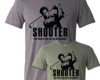 Shooter McGavin T-Shirt, Golf Happy Gilmore 90s Movie Funny Golfing Shirt Summer Long Drive Putting 3 Putt