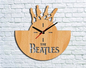 The Beatles Clock Wall clock Wood clock The Beatles Gift Ideas Valentines gifts