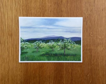Orchard - Oil Painting Print Greeting Card