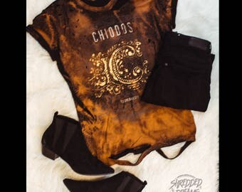 Chiodos distressed bleached shirt - Reworked band tee