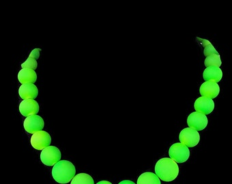 Neon Green Jewelry - Summer Necklace - Summer Jewelry - Neon Green Necklace - Neon Jewelry - Neon Necklace - Trendy Jewelry - Neon Bridal