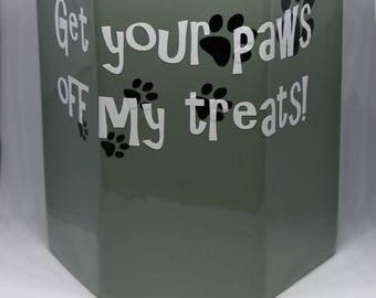 Dog treat Jar , ceramic , dog treats , treat jar , customizable dog treat jar , jar for dog treats , doggie cookie jar , cookie jar