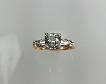 Vintage 1950's diamond engagement ring .35ct