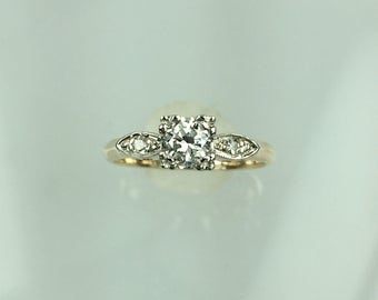 Vintage 1940's diamond engagement ring .24ct