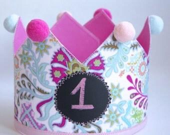 Party Crown | First Birthday Crown | Birthday Crown | Princess Crown | Fabric Crown | Toddler Crown | Dress up Crown | Girls Crown | Crown