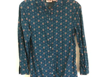 Vintage Floral Juicy Couture Blouse