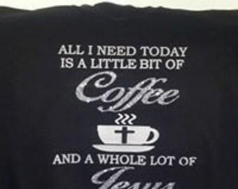 coffee and Jesus crew neck sweater