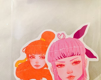 Set of 2 Sticker Pack- Dead or Alive Ayane and Kasumi