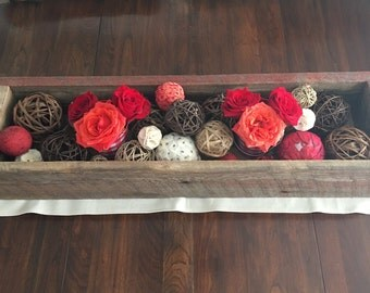Reclaimed Barn Wood - Table Centerpiece / Planter Box
