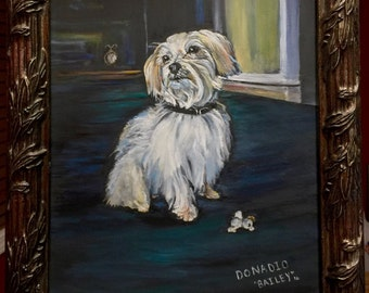 custom pet portrait. Custom dog portrait