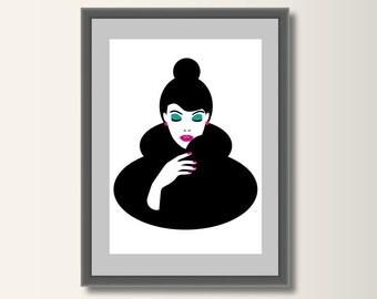 Fashion fashion posters, fashion print, fashion illustration, fashion art, minimalist set pressure, minimal print, pop art