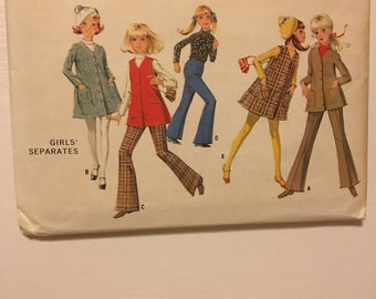 1960s Vintage Sewing Pattern - Girls' separates - Size 12 - McCall's 2029