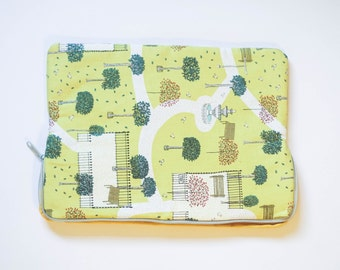 Park - Cotton Print - MacBook Pro Sleeve - Laptop Sleeve - Laptop Case - Laptop Bag