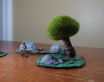 Dungeons and Dragons Miniature Trees