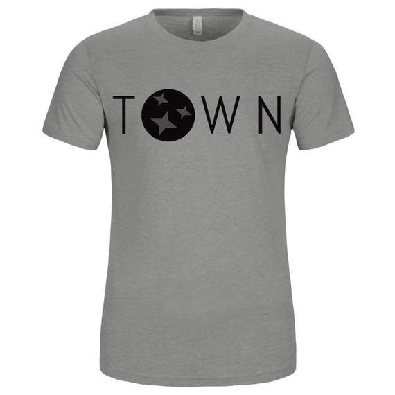 The Capitol Company 'Town' Jersey TShirt//Nashville Southern Activewear-Grey or White