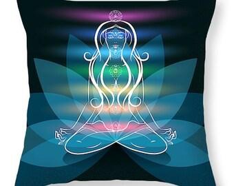 Chakra/Yoga Throw Pillows