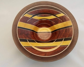 Bumble-Bubinga - Laminated Wood Bowl