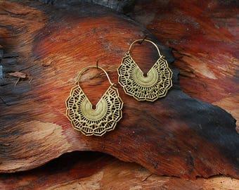 Mandala Flower (2) - ear jewelry