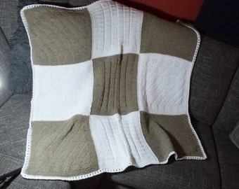 knitted blanket 105 x 105