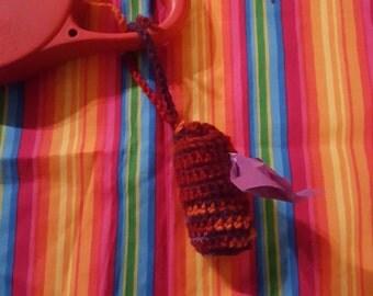 Crochet poop bag holder