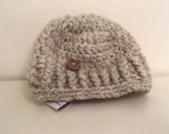 Cream rustic hat