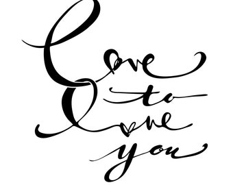 Love to Love You Graphic Print