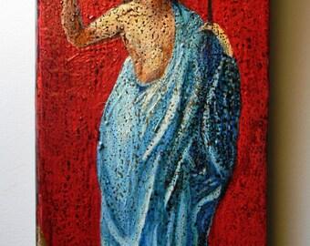 Christ resurrected hand painted