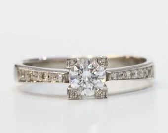 diamond ring, big diamond ring, engagement ring, big diamond engagement ring, 14k gold ring, solid gold ring, uniqe diamond ring