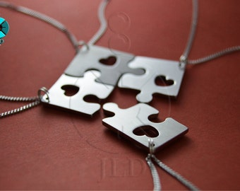 Puzzle 4-piece with heart